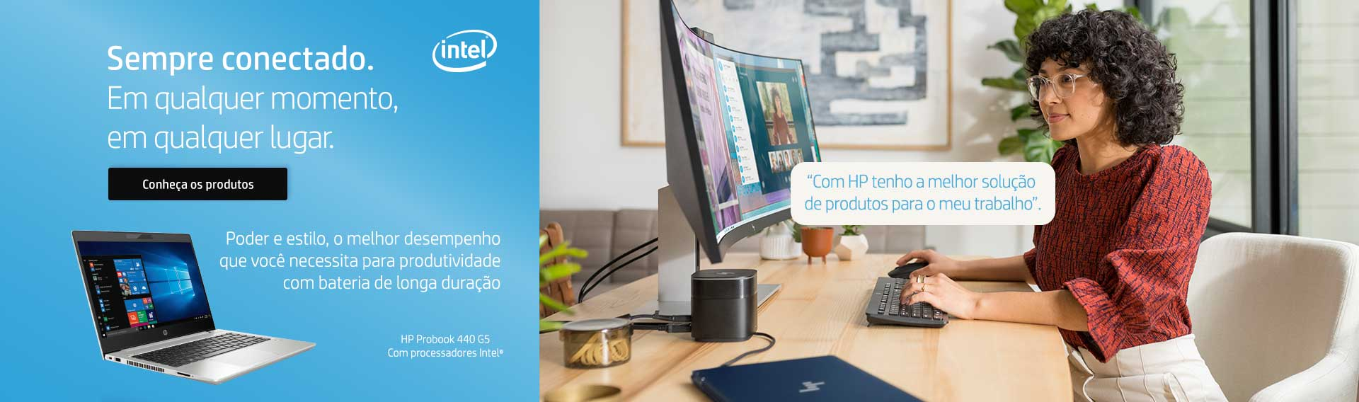 Sempre conectado com Intel