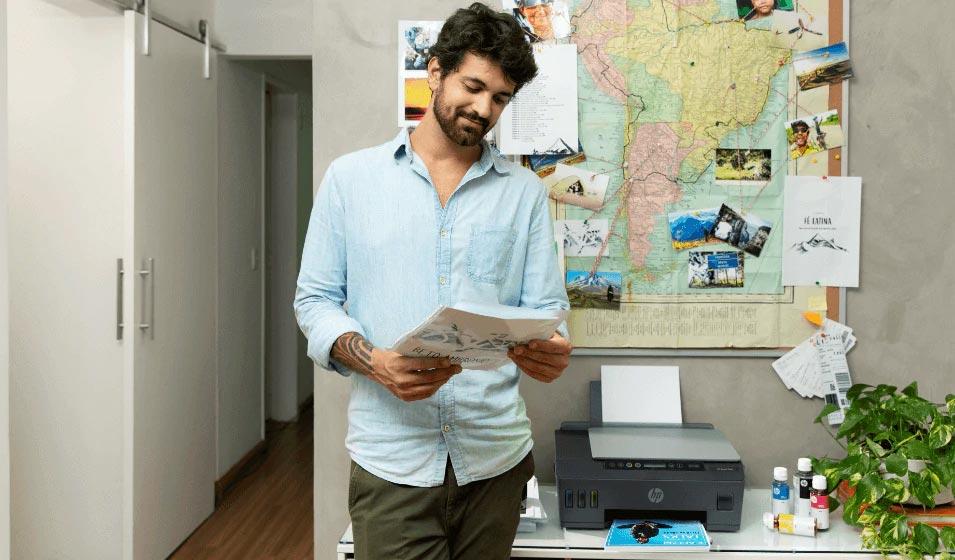 Alto volume de impressão con HP Smart Tank
