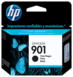 Cartucho de Tinta HP 901 Preto Original
