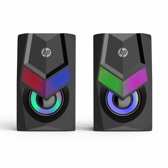 Caixa de Som HP Preta RGB Light