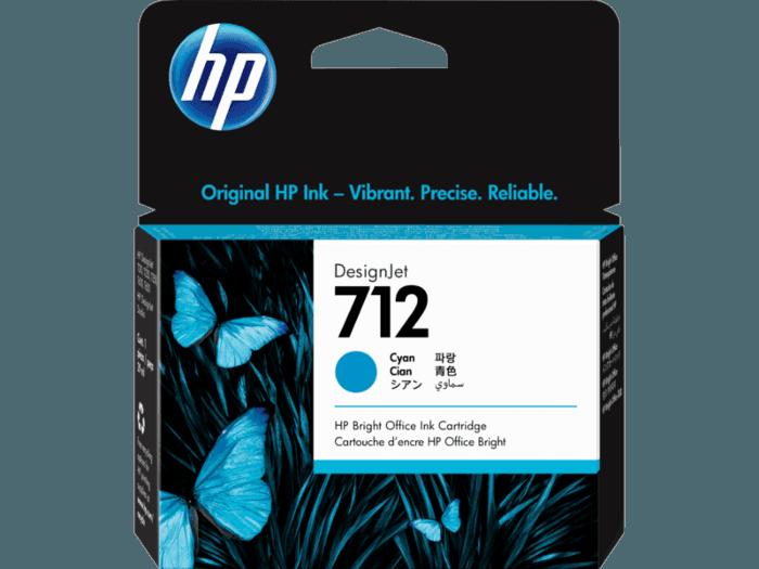 Cartucho de Tinta HP 712 Ciano DesignJet Original
