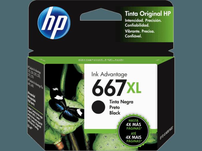 Cartucho de Tinta HP 667XL Preto Advantage de Alto Rendimento Original