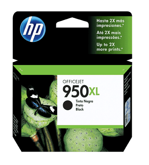 Cartucho de Tinta HP 950XL Preto de Alto Rendimento Original