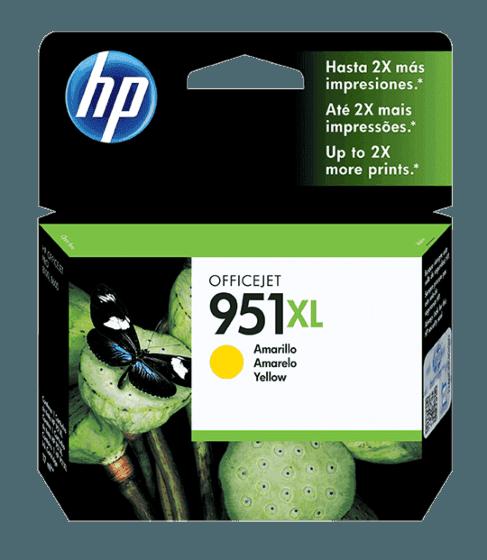 Cartucho de Tinta HP 951XL Amarelo de Alto Rendimento Original