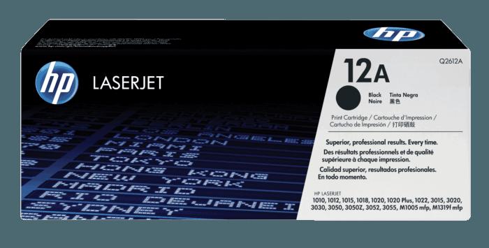 Cartucho de Toner HP 12A Preto LaserJet Original