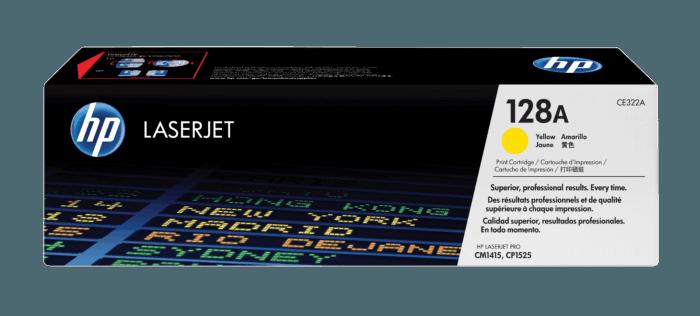 Cartucho de Toner HP 128A Amarelo LaserJet Original
