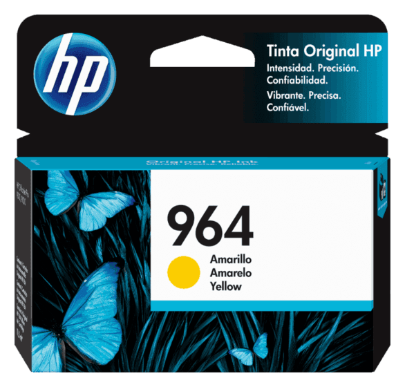 Cartucho de Tinta HP 964 Amarelo Original