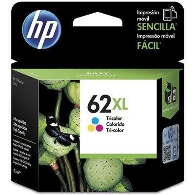 Cartucho de Tinta HP 62XL Colorido de Alto Rendimento Original