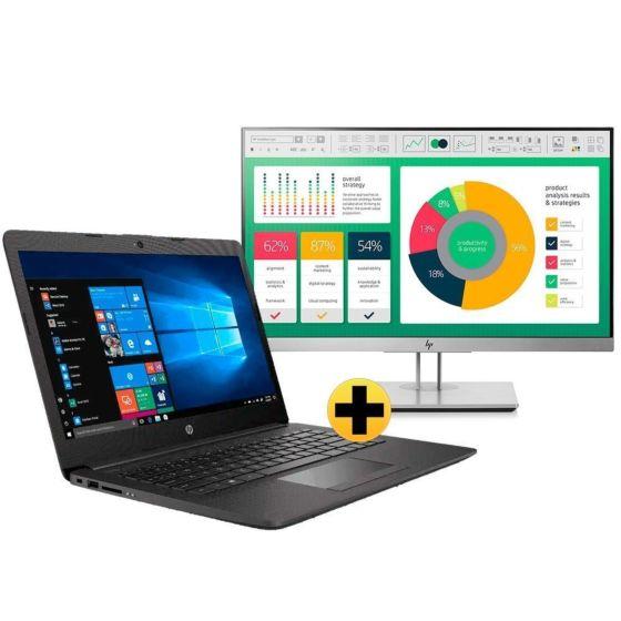 "Notebook HP 246 G7 + EliteDisplay HP E223 21,5"""