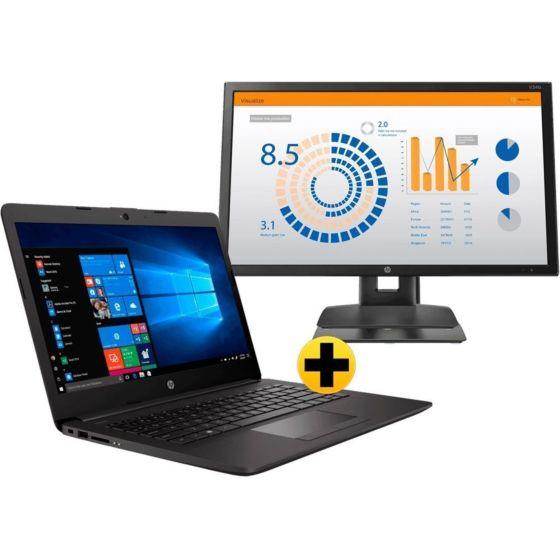 Combo Notebook HP 246 G7 + Monitor HP V24b