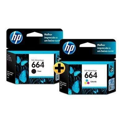 Cartucho de Tinta HP 664 Colorido + Preto Advantage Original
