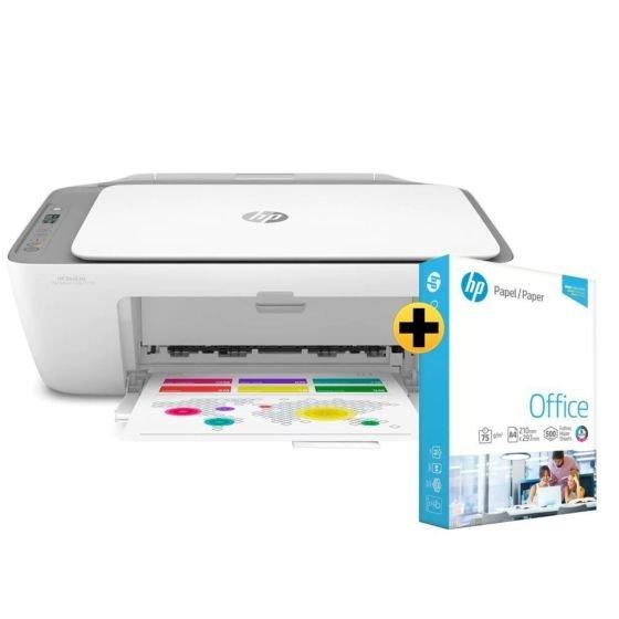 Impressora Multifuncional HP DeskJet Ink Advantage 2776 + Papel sulfite HP Office A4