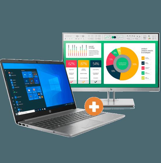 Notebook HP 256 G8 + EliteDisplay HP E223 21,5