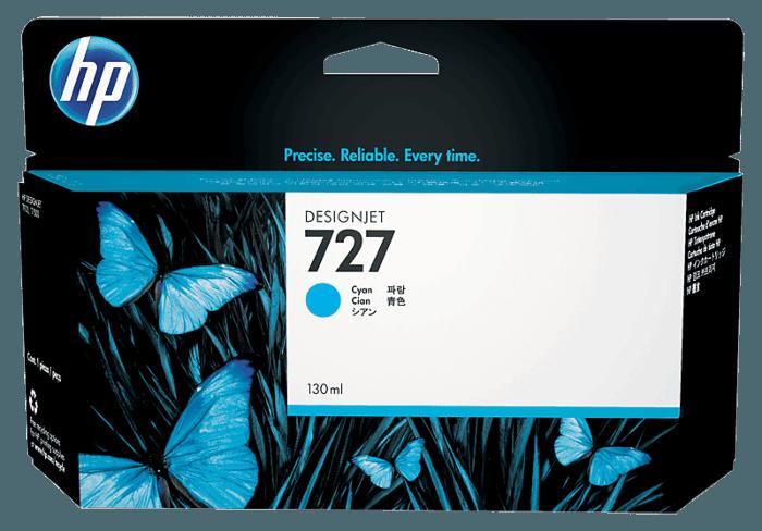 Cartucho de Tinta HP 727 Ciano DesignJet Original