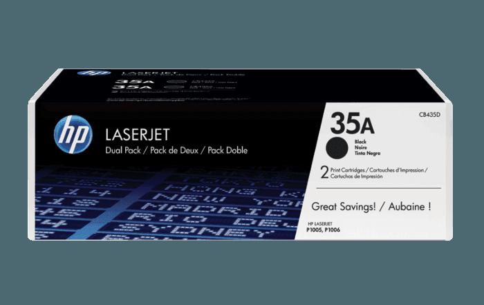 Pacote com 2 Cartuchos de Toner HP 35A Pretos LaserJet Originais