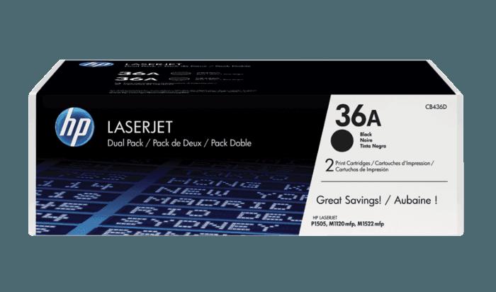 Pacote com 2 Cartuchos de Toner HP 36A Pretos LaserJet Originais