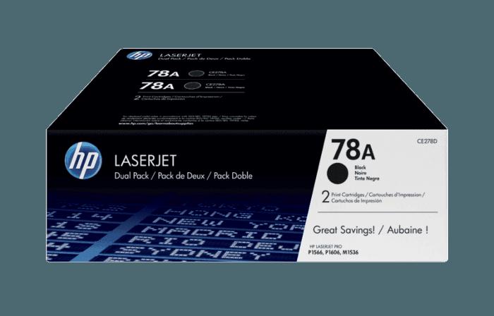 Pacote com 2 Cartuchos de Toner HP 78A Pretos LaserJet Originais