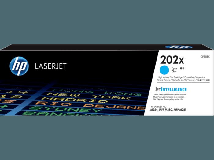 Cartucho de Toner HP 202X Ciano de Alto Rendimento LaserJet Original