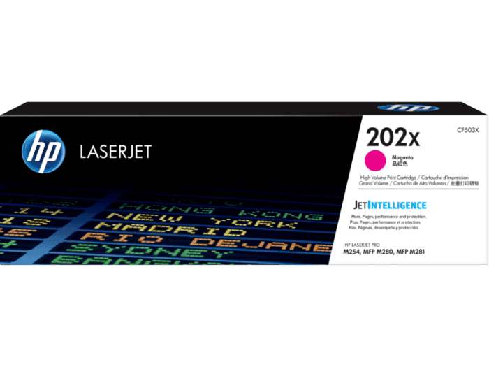 Cartucho de Toner HP 202X Magenta de Alto Rendimento LaserJet Original