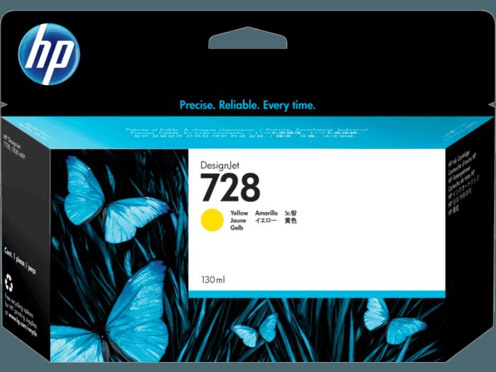 Cartucho de Tinta HP 728 Amarelo DesignJet Original