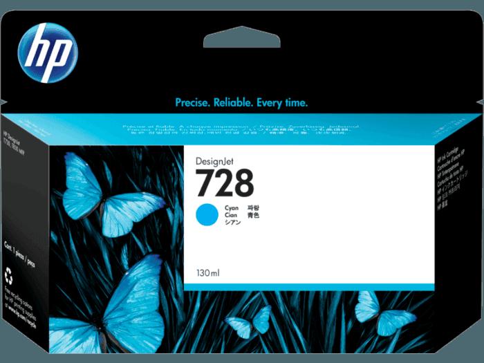 Cartucho de Tinta HP 728 Ciano DesignJet Original