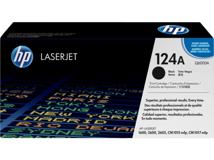Cartucho de Toner HP 124A Preto LaserJet Original
