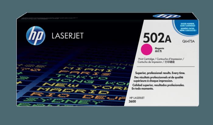Cartucho de Toner HP 502A Magenta LaserJet Original
