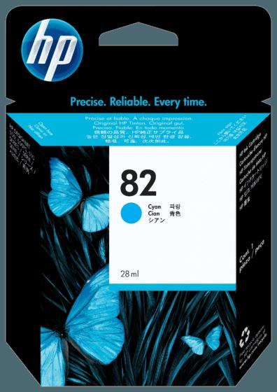 Cartucho de Tinta HP 82 Ciano DesignJet 69 ml