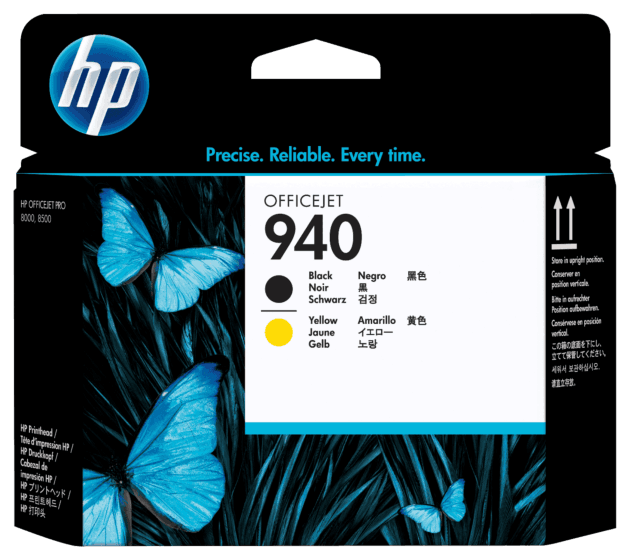 Cabeça de Impressão HP 940 Preto e Amarelo Original
