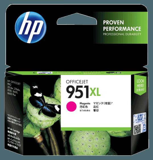 Cartucho de Tinta HP 951XL Magenta de Alto Rendimento Original