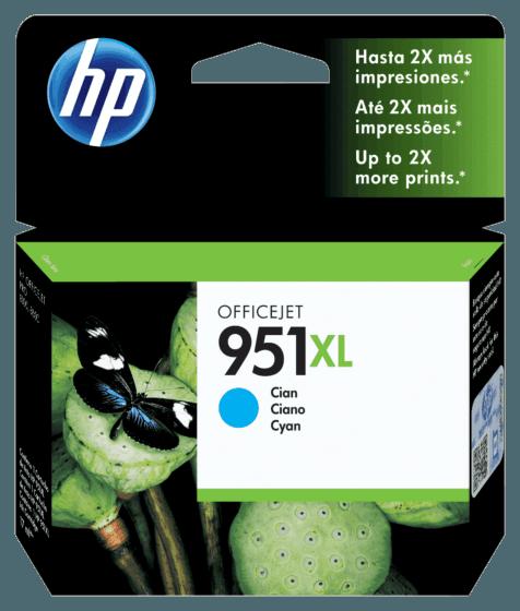 Cartucho de Tinta HP 951XL Ciano de Alto Rendimento Original
