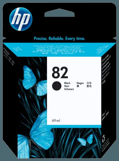 Cartucho de Tinta HP 82 Preto DesignJet de 69 mll