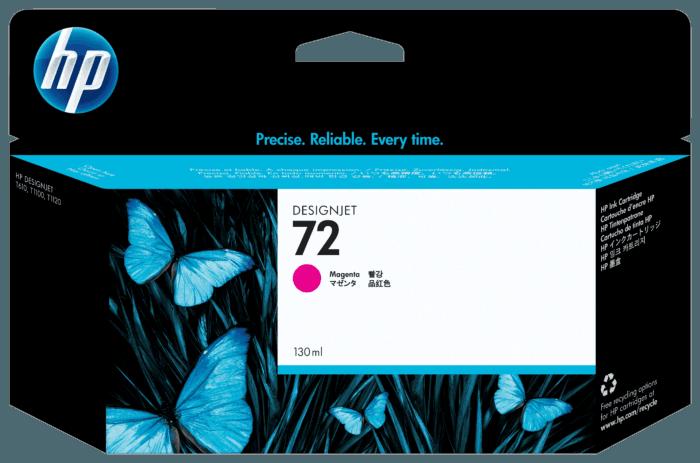 Cartucho de Tinta HP 72 Magenta DesignJet 130 ml