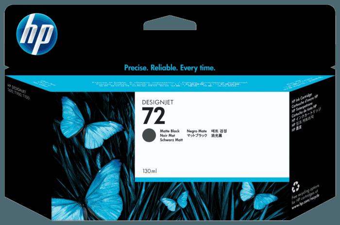 Cartucho de Tinta HP 72 Preto Fosco DesignJet 130 ml