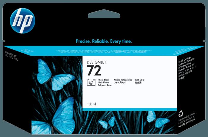 Cartucho de Tinta HP 72 Preto Photo DesignJet 130 ml