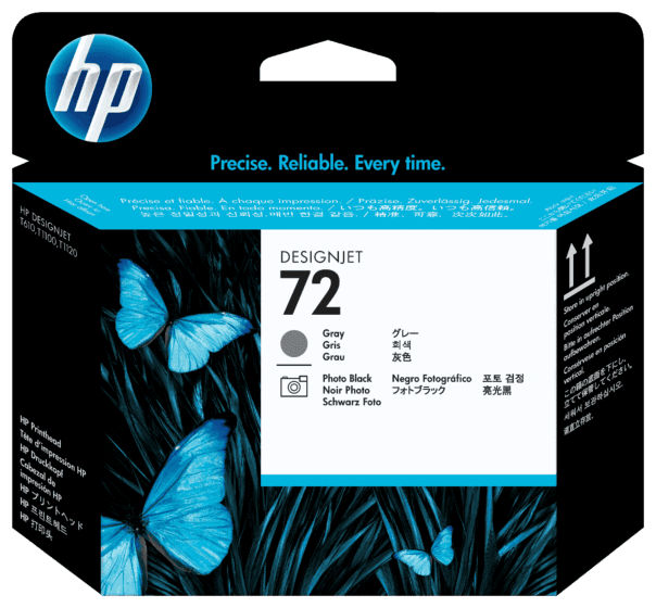 Cabeça de Impressão HP 72 Preto Fotográfico e Cinza DesignJet Original