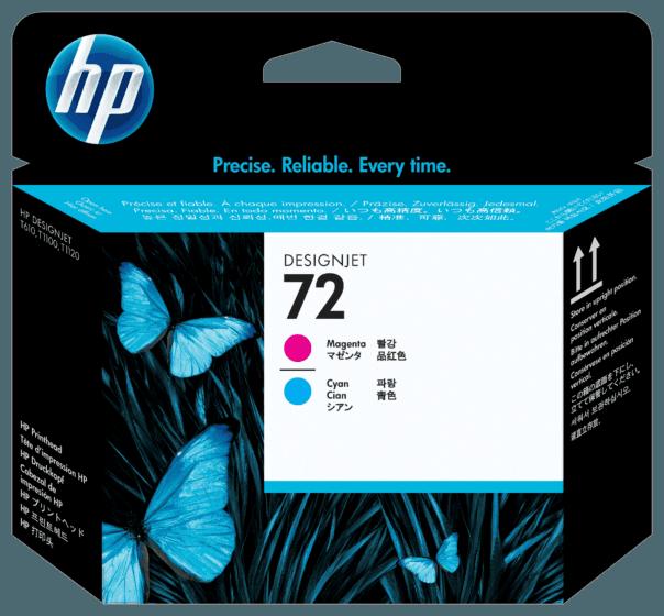 Cabeça de Impressão HP 72 Magenta e Ciano DesignJet Original