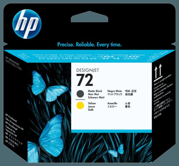 Cabeça de Impressão HP 72 Preto e Amarelo DesignJet Original