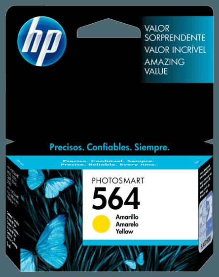 Cartucho de Tinta HP 564 Amarelo Original