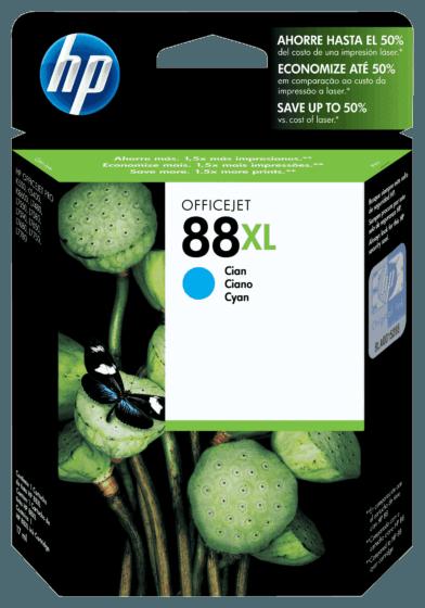 Cartucho de Tinta HP 88XL Ciano de Alto Rendimento Original