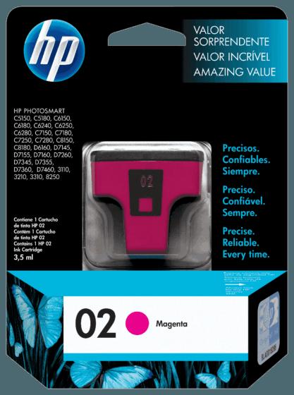 Cartucho de Tinta HP 02 Magenta Original