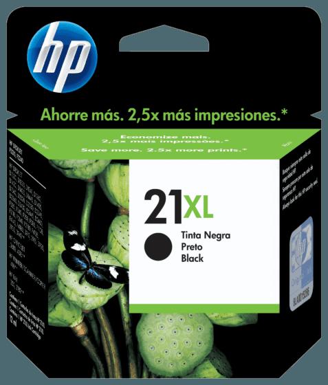 Cartucho de Tinta HP 21XL Preto de alto Rendimento Original