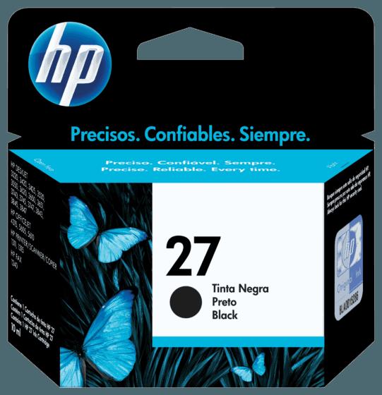 Cartucho de Tinta HP 27 Preto Original