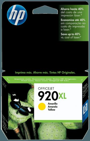 Cartucho de Tinta HP 920XL Amarelo de Alto Rendimento Officejet Original