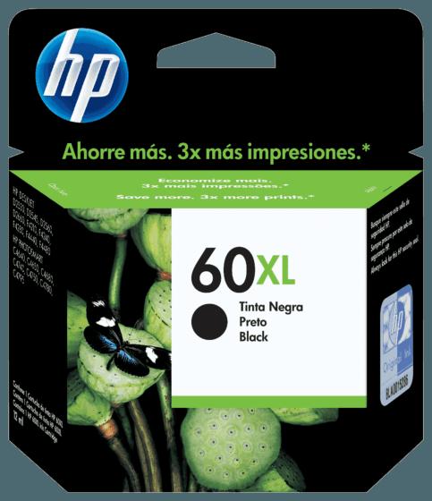 Cartucho de Tinta HP 60XL Preto de Alto Rendimento Original