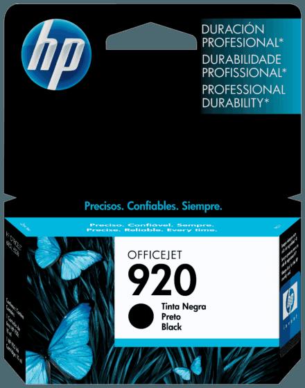 Cartucho de Tinta HP 920 Preto Original