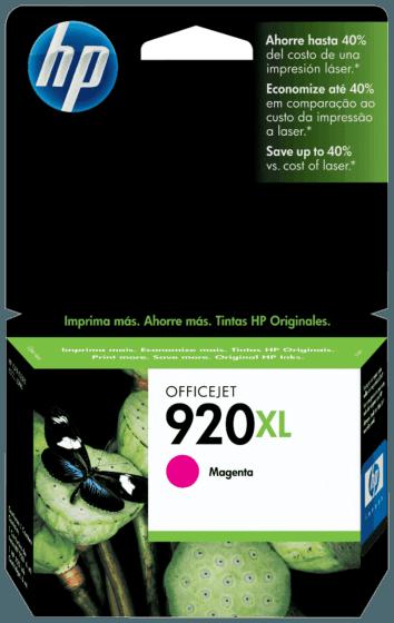Cartucho de Tinta HP 920XL Magenta de Alto Rendimento Officejet Original