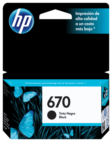 Cartucho de Tinta HP 670 Preto Advantage Original