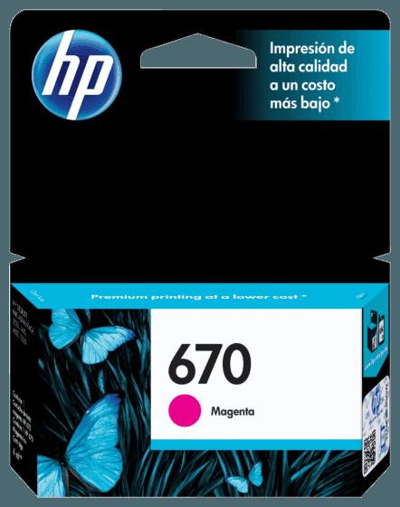 Cartucho de Tinta HP 670 Magenta Advantage Original