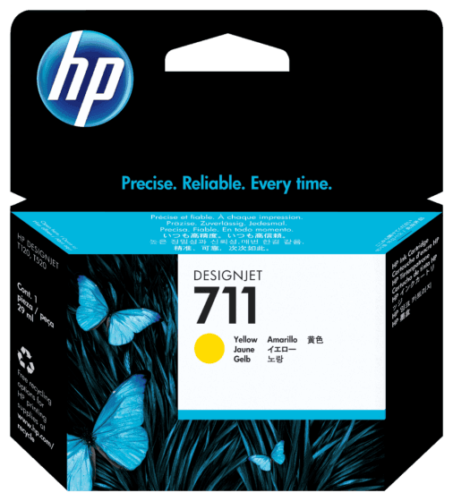 Cartucho de Tinta HP 711 Amarelo DesignJet 29 ml